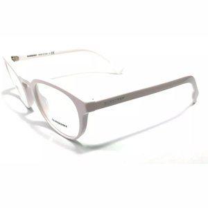 Burberry Men's White Round Eyeglasses!